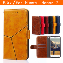 K'try Huawei honor 7 cover case Premium PU Leather Wallet Flip Case for Huawei Honor 7 with Card Slots and Cash Holder