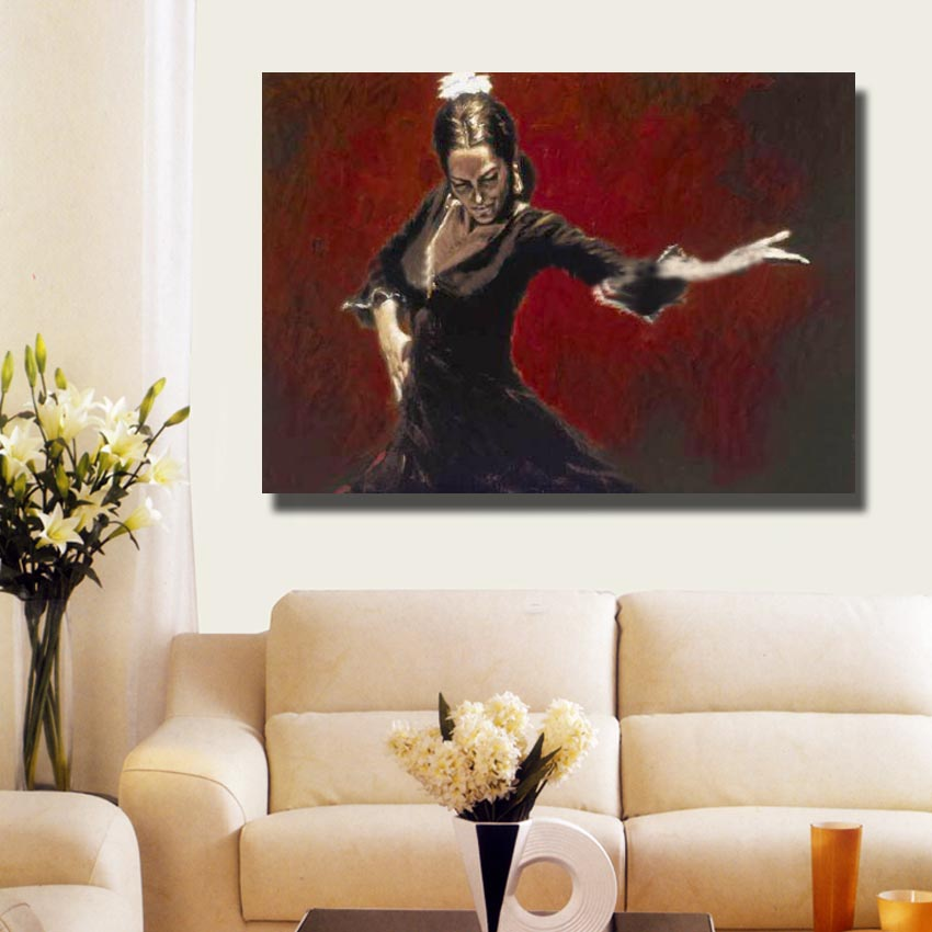 Spanish Oil Painting Living Room Wall Picture Large Canvas Paintings Women  Wall Art Home Decor Artwork No framed-in Painting   Calligraphy from Home  ... a71f9238e8