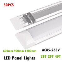 50PCS LED Panel Lights 2FT 3FT 4FT 20W 30W 40W LED Surface Mounted Ceiling Lamps Purification