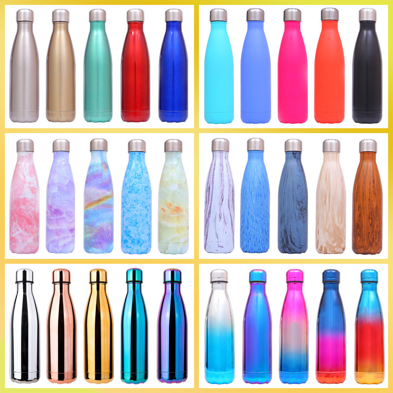 500ml Stainless Steel Thermo Water Bottle Thermal Cold Cup Outdoor Exercise Bike Sports Water Bottles Drinking Kettle thermos(China)
