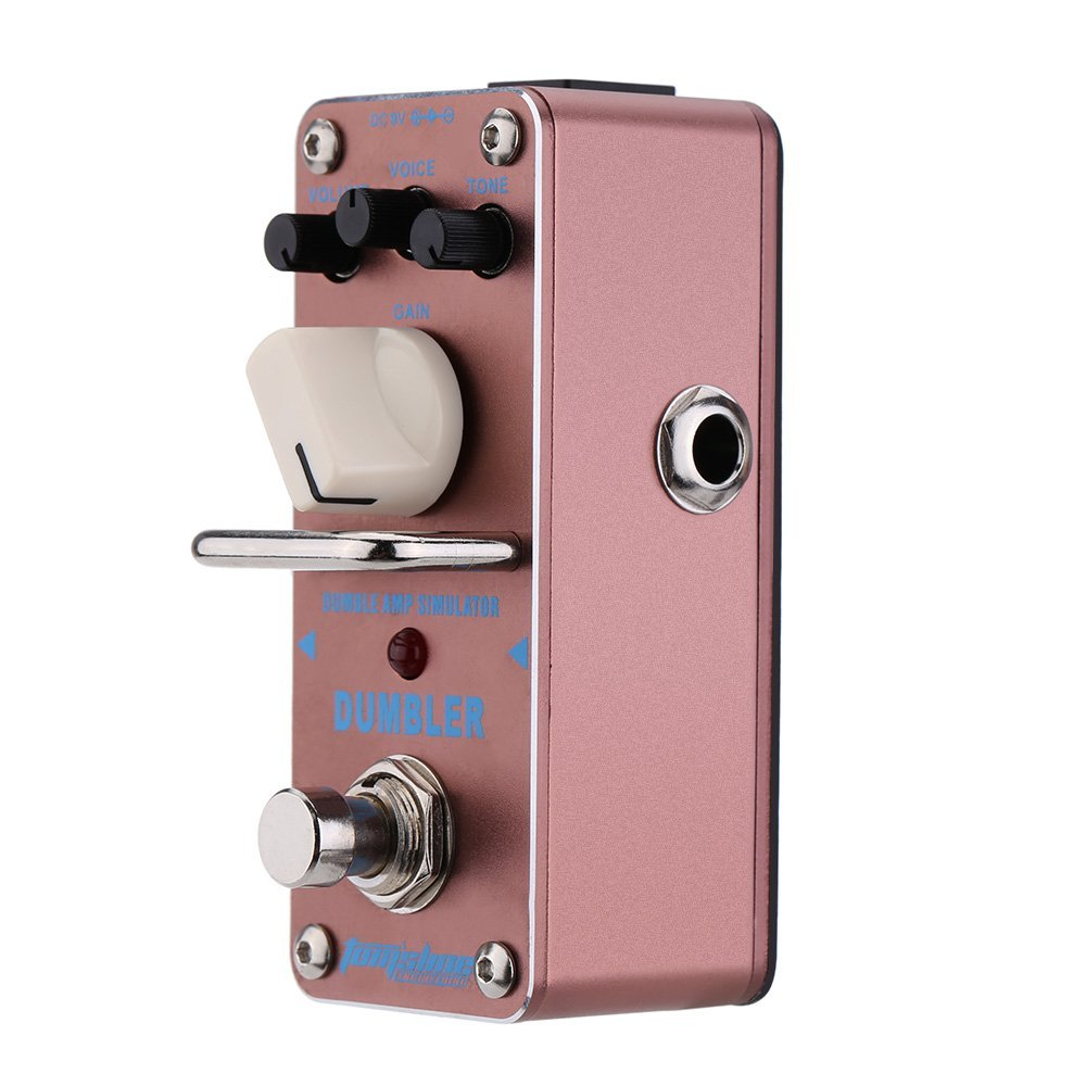 AROMA ADR-3 Guitar Effect Pedal Dumbler Amp Simulator Mini Single Electric Guitar Effect Pedal with True Bypass aroma aov 3 ocean verb digital reverb electric guitar effect pedal mini single effect with true bypass guitar parts