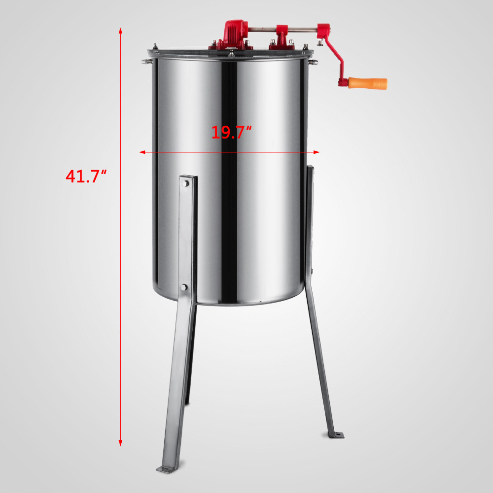 Honey Extractor Europe Stock Free Tax Brand New Large 3 Frame Stainless Steel Manual Honey Extractor