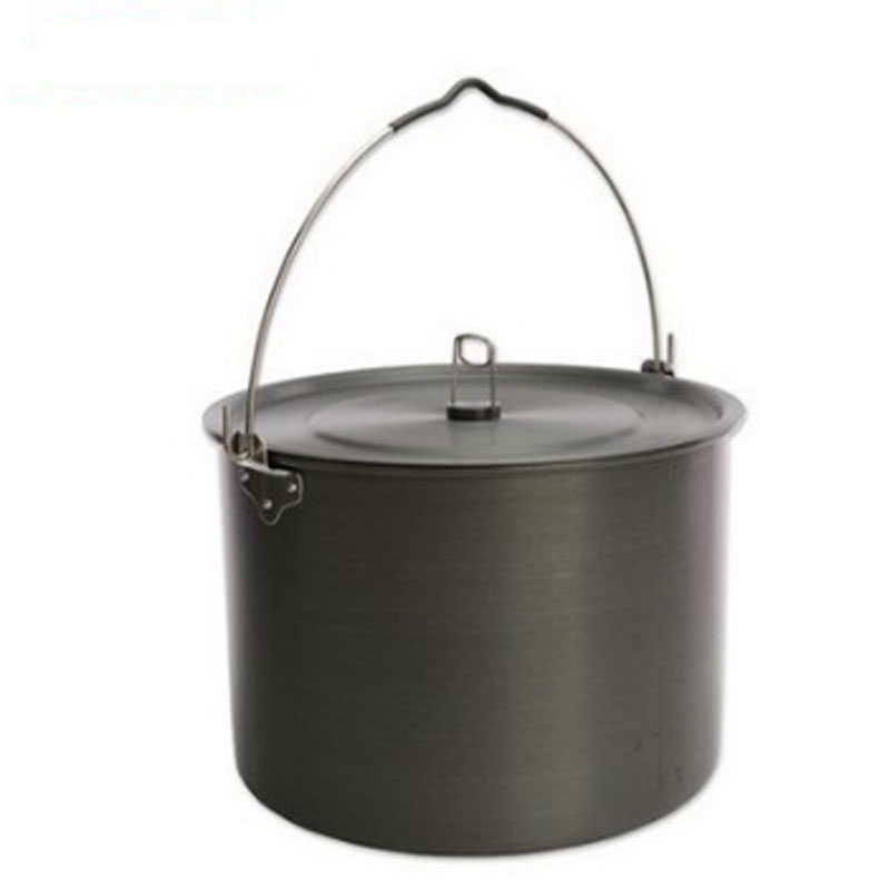 15 L Camping Hanging Pot 8-10 Person Outdoor Tableware Cookware Cooking Pan Camping Stove Tool Self-driving Picnic outdoor tableware camping pot camping cookware outdoor stove for 4 5 person non stick pan black cookware set field supplies