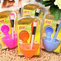 Free Shipping 1Set Kawaii 4 in 1 Mask Bowl Brush Spoon Cosmetology Tool Wholesale
