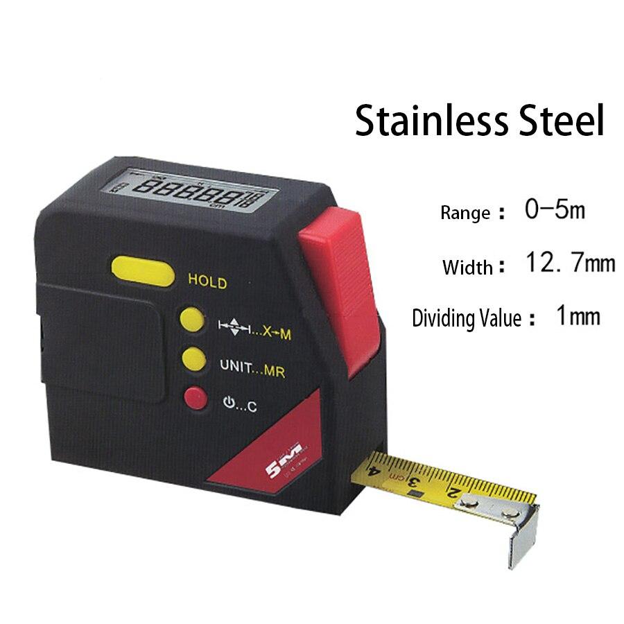 Duitsland Elektronische Gigital Meetlint 0-5 M/1mm Tape 5 Meters Digitale Display Tape Rvs Heerser Voor Bouw