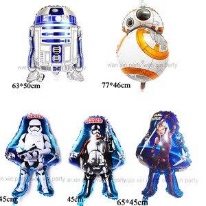 Hurtownie (50 sztuk/partia) Star Wars balon dzieci zabawki Robot BB8 balon foliowy i R2D2 balon z helem na zaopatrzenie imprezy