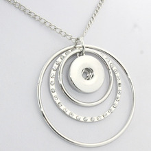 necklaces and chokers 2016 Newest snap button Pendants with crystals mother #8217 s love necklaces woman (fit 18mm 20mm snaps) 030110 cheap boom life Zinc Alloy Pendant Necklaces Women Message Reminder Link Chain All Compatible Fashion NE203 TRENDY Metal ROUND