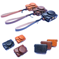 Portable PU Camera Hard Bag with Shoulder Strap Lightweight and Fashion Camera Case Cover for Sony RX100 V