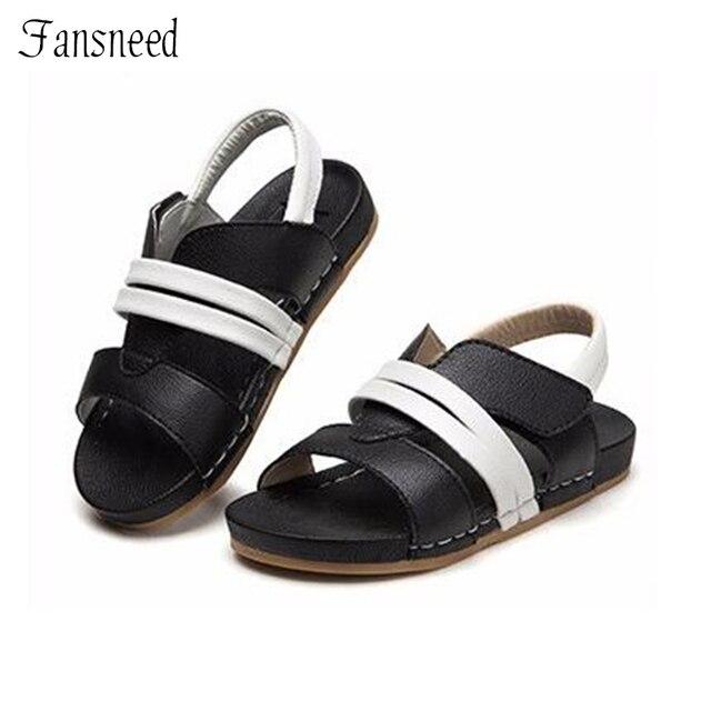 2017 Новые мальчики девочки сандалии из натуральной кожи детская обувь смешанные цвета детей пляжные сандалии моды качество sandas