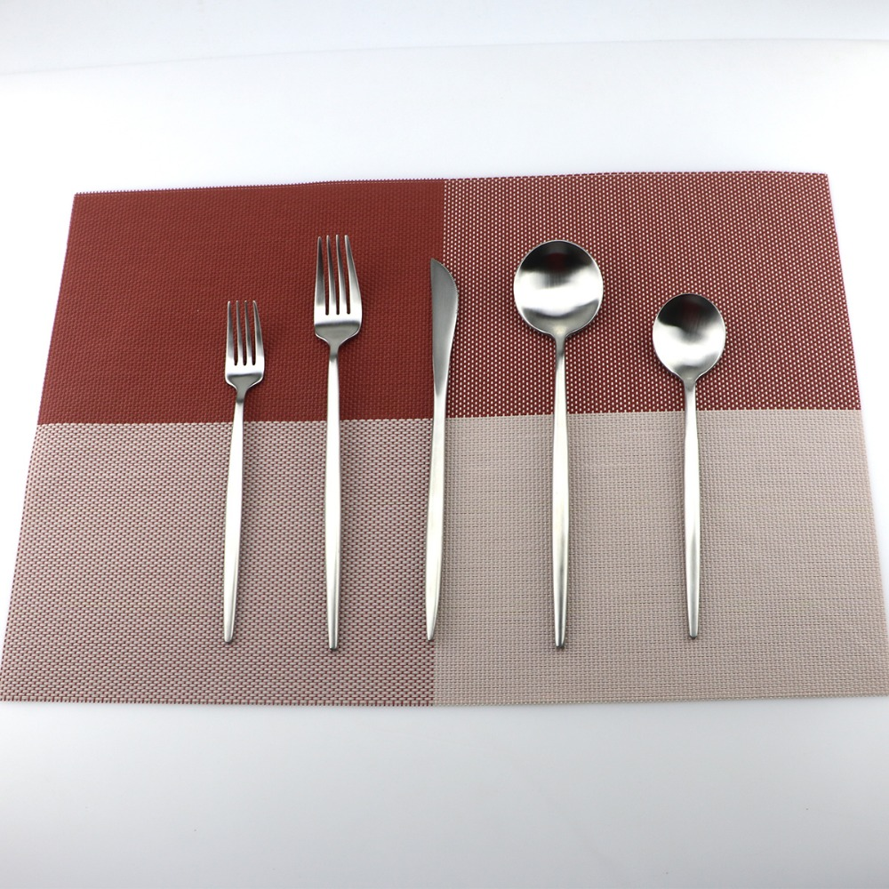 5Pcs/Lot Silve Cutlery Set 18/10 Stainless <font><b>Steel</b></font> Dinnerware Set Fork Knife TeaSpoon Silverware Home Tableware Set Dessert Fork