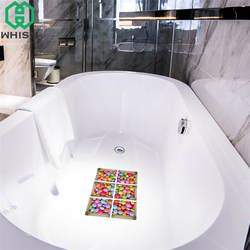 WHISM водонепроницаемый домашний Декор Цветы стены 3D Нескользящие наклейки на обои Ванна Стикеры декоративный постер Аксессуары для ванной