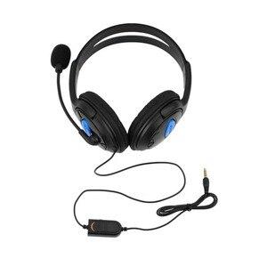 Image 2 - Kebidu 1.9m przewodowe gry komputerowe słuchawki z mikrofonem casque audio Mute switch zestaw słuchawkowy z redukcją szumów dla PS4 Sony PlayStation