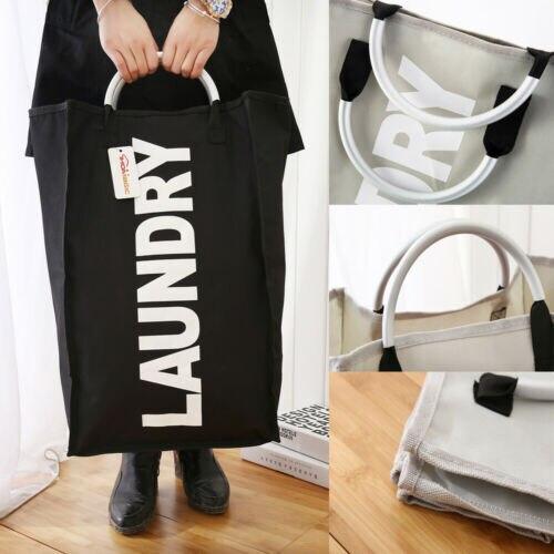 Large Collapsible Oxford Washing Clothes Laundry Basket Hamper Berif Portable Laundry Storage Bag Hot