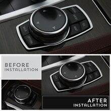 3D Car Accessories Interior Multimedia Buttons Cover Trim For BMW 1 3 4 5 7 Series X1 X3 X4 X5 X6 E87 F20 F01 F30 F15 2013 2014 cocolockey silicone key cover case for bmw x1 x3 x4 x5 x6 3 5 4 7 series e87 f20 e90 e92 e93 smart remote car key wallet