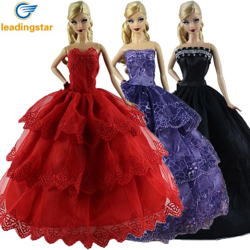 Red long barbie dress