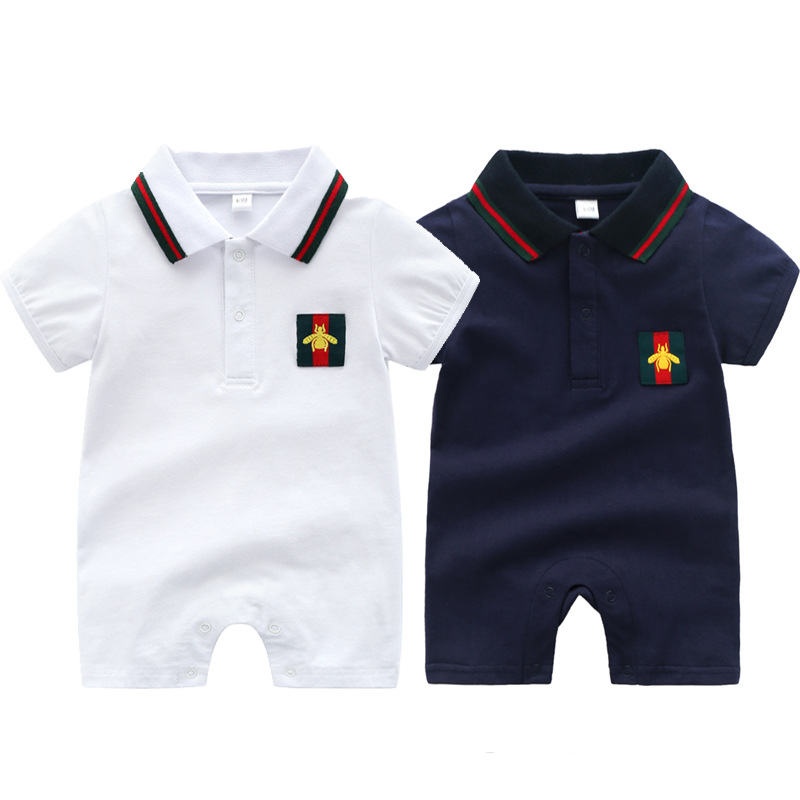 Baby onesies cotton summer short-sleeved out baby baby clothes newborn clothes 3-24 months newborn baby   rompers
