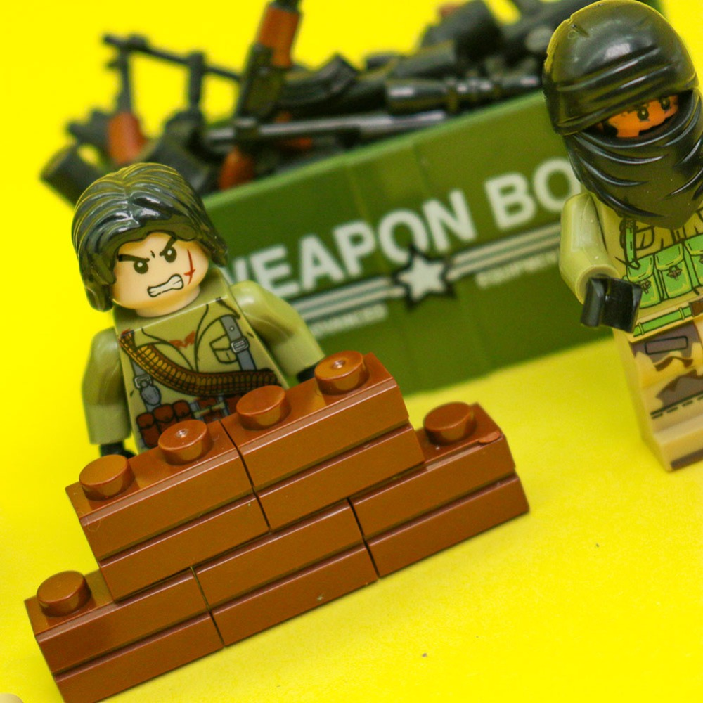 Military Soldier SWAT Series Ghillie Suit Gun Weapon box model Bricks Building Blocks Compatible with Legoes playmobil kids toys