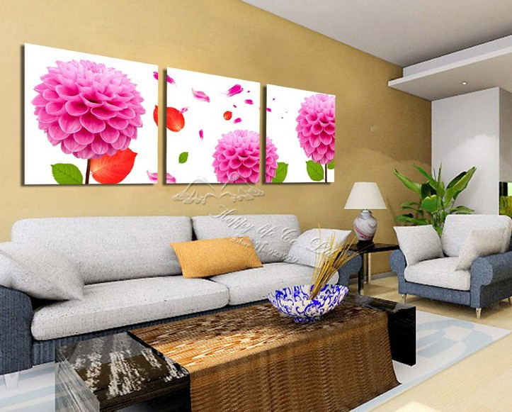 3 panel modern wall painting wall panel sitting room decoration home modern picture household items first - Decorative Home Items