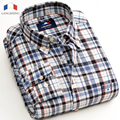 Langmeng  2016 new men flannel shirt plaid casual shirts autumn long sleeve men cotton warm clothing slim fit camisa masculina