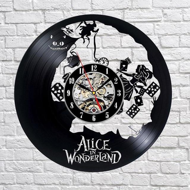 Alice im Wunderland Cartoon Thema CD Rekord Clock Antike ...