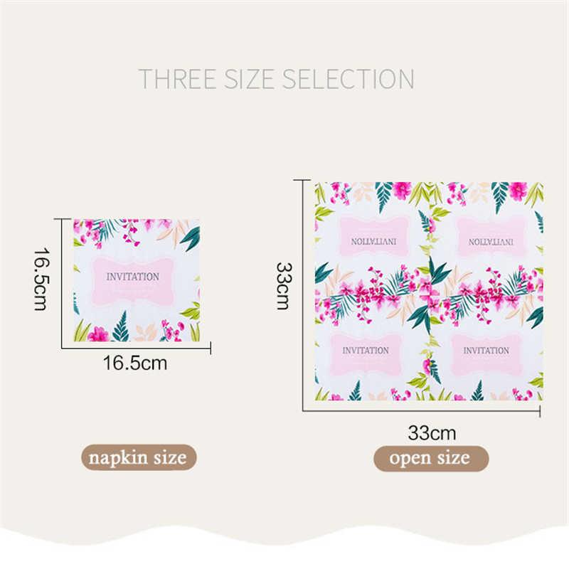 20 sztuk 2-warstwa serwetki drukowane papier ślubny serwetki kolor papieru ręcznik na ślub dekoracje do domu na imprezę chusteczka papieru