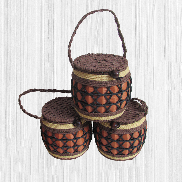 Paper Rope Storage Basket Desktop Cosmetics Headset Office Supplies  Sundries Storage Box Tea Packaging Living Room