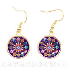 Vintage Jewelry Mandala Earrings Henna OM Symbol Buddhism Zen Online Shopping India 2018 Fashion Drop Earrings For Girl Women(China)