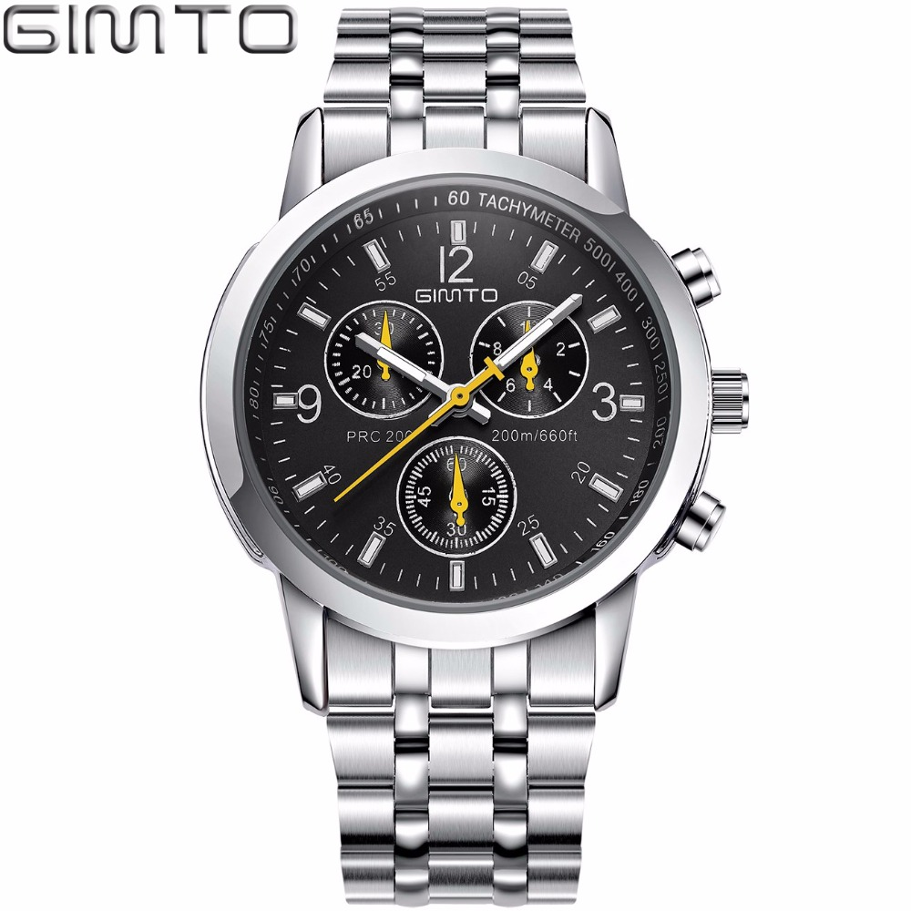 GIMTO 2018 Brand Sport Men Watch Creative Steel Clock Luxury Quartz Lovers Watch Casual Male Female Wristwatch Relogio Masculino famous brand role luxury men watch quartz sport watch men stainless steel wristwatch male clock waterproof relogio masculino new