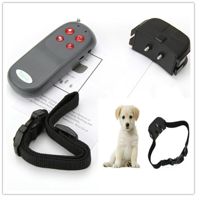 New Useful Portable No Harm Electric 4 in 1 Remote Control Small Medium Dog Training Shock Vibrate Collar Anti Bark