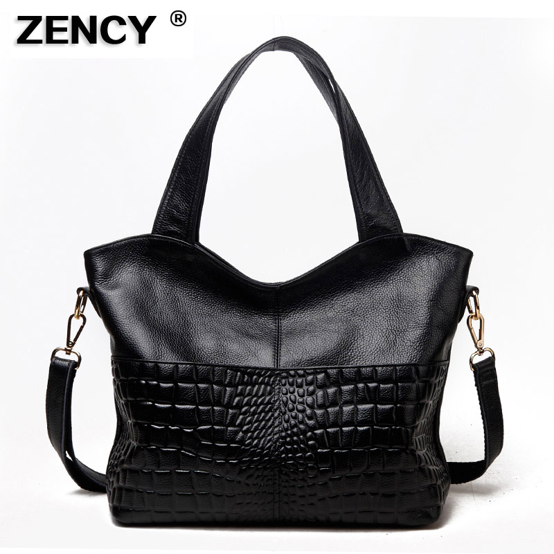 ZENCY 100% Genuine Leather Long Handle First Layer Cowhide Womens Shoulder Bags Ladies Shopping Handbags Female Messenger BagZENCY 100% Genuine Leather Long Handle First Layer Cowhide Womens Shoulder Bags Ladies Shopping Handbags Female Messenger Bag