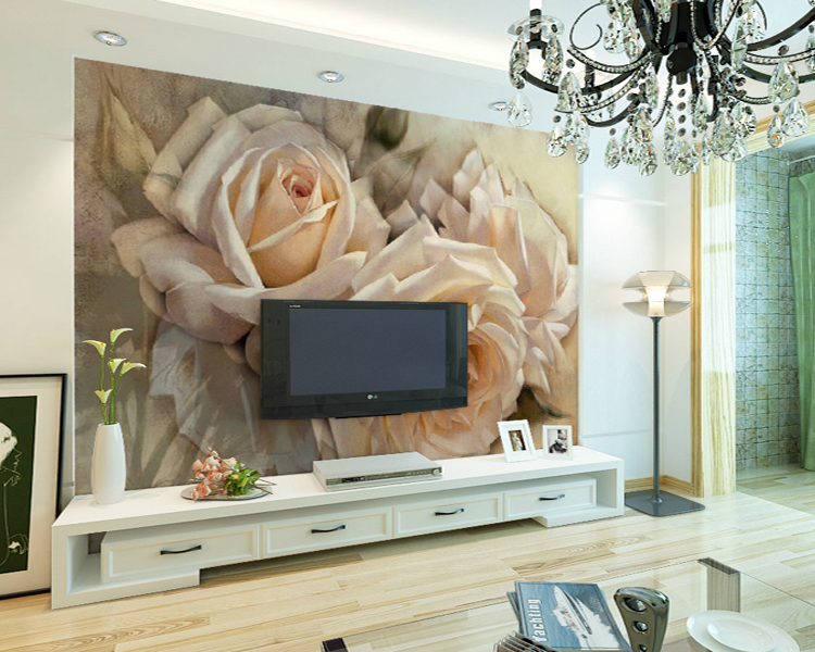 Custom Flower Murals Rose 5D Papel Murals Wall paper 3d Wall Photo Murals Wallpaper for Living Room TV Background 3d Wall Murals the custom 3d murals parks sunrises and sunsets trees heart grass nature wallpapers living room sofa tv wall bedroom wall paper