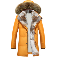 Long Hooded Parkas Men Thick Warm Mens Winter Jacket Male Plus Size S-5XL 2019 Brand Clothing Man Coat Fur Collar Overcoa
