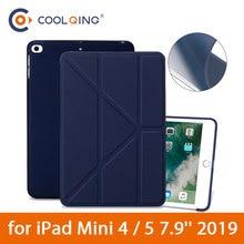 Multi-folded Smart Case For iPad Mini 4/5 7.9'' 2019 TPU Soft Protective Case PU Leather Cover Tablets Case For iPad Mini 5 Case стоимость