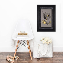 Asklove Gold Art Figure portrait painting poster 24K Gold foil painting Wall art picture Gifts Modern Decorative wall pictures(China)