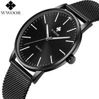 WWOOR Brand Luxury Men S Quartz Watch Men Waterproof Ultra Thin Analog Clock Male Fashion Sports
