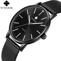 WWOOR Brand Luxury Men S Quartz Watch Men Waterproof Ultra Thin Analog Clock Male Fashion Sports