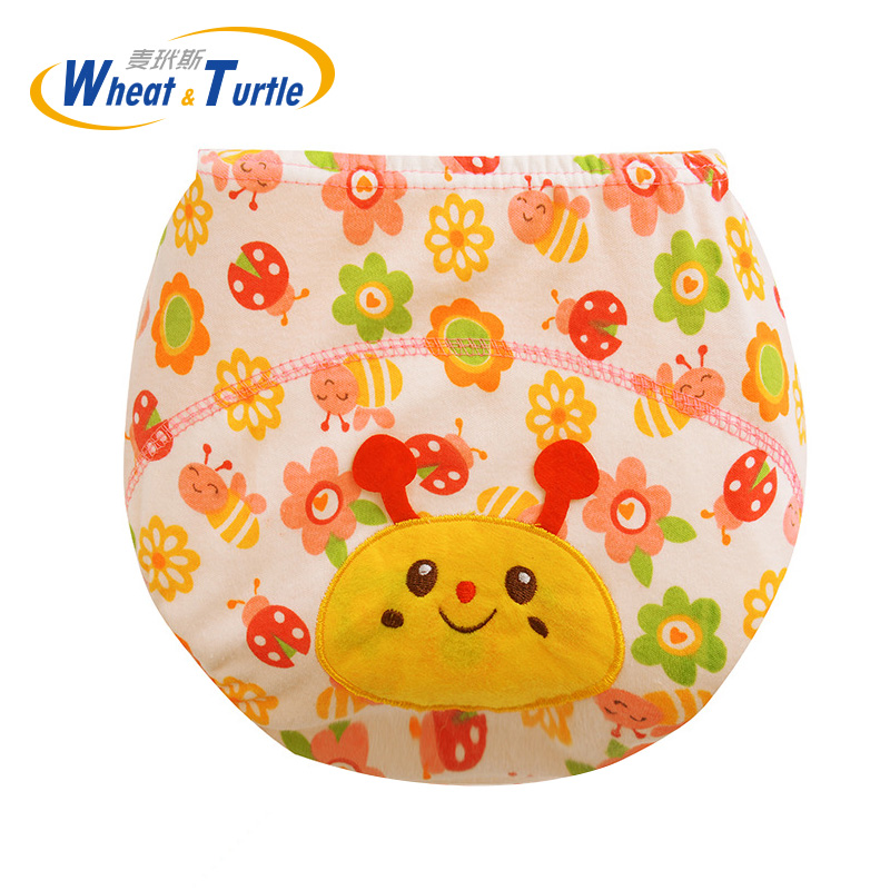Mother Kids Baby Bare Cloth Diapers Unisex Animal Pattern Reusable Cloth Diaper Washable Infant Children Cotton Training Panties