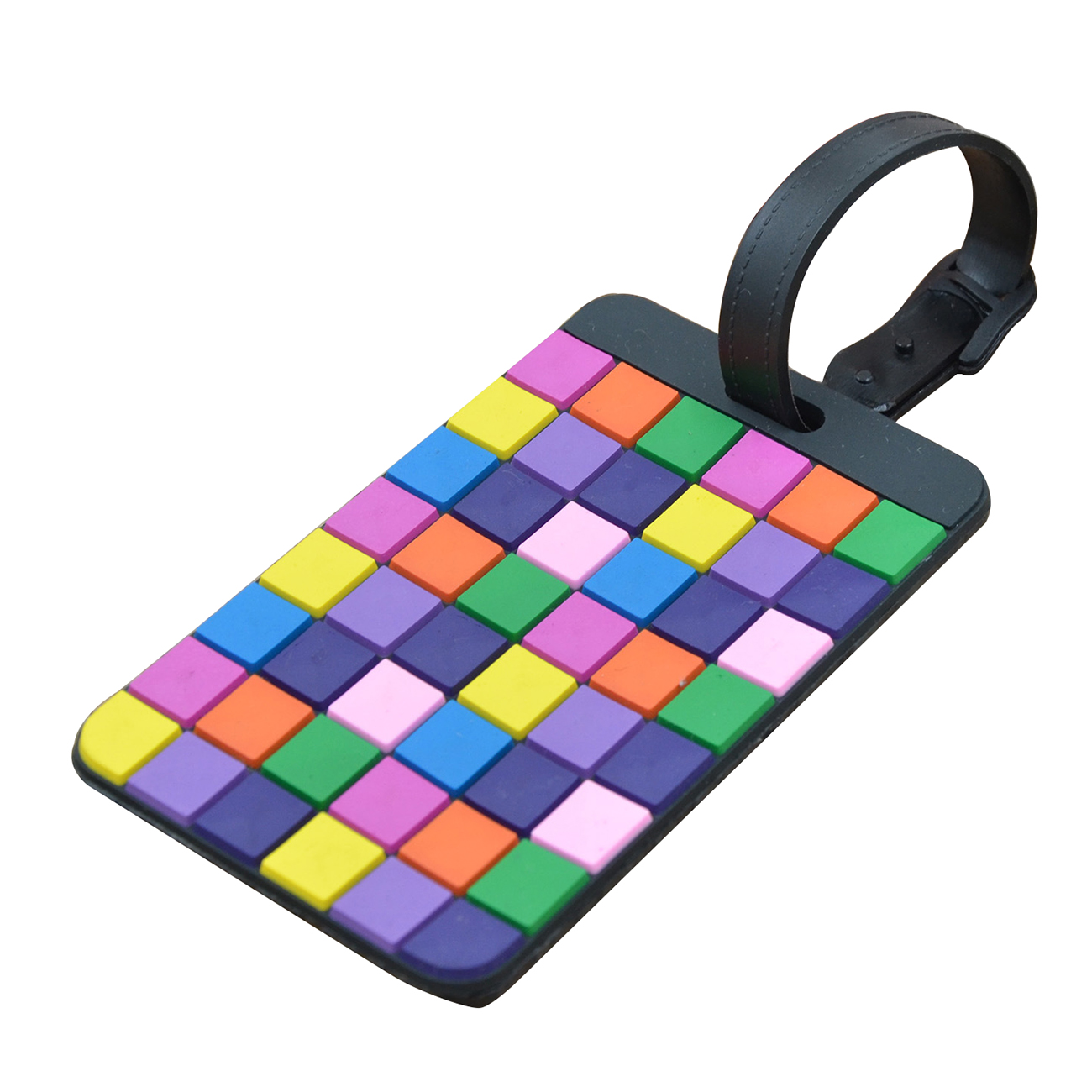 AFBC Portable Secure Travel Suitcase ID Luggage Handbag Large Tag Label (Yellow+Purple)