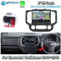 YESSUN 9'' HD Touch For Chevrolet TrailBlazer 2017~2019 Car Android Carplay GPS Navi maps Navigation Player Radio no CD DVD