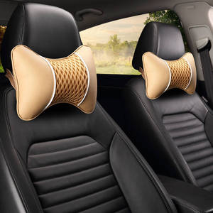 Image 4 - Oreiller de voiture, appui tête de voiture, oreiller cervical, soie, glace, siège dauto, coussin pour le cou, une paire de quatre saisons