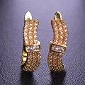 Blucome s forma brilhante minúsculo simulado brincos de diamantes para as mulheres banhado a ouro ear acessórios aretes com quadrado branco