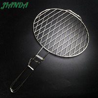 JIANDA Stainless Steel Hamburg Grilled Fish Clip Barbecue Net BBQ Tool For Outdoor Camping Picnic Accessories