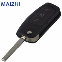 Jingyuqin Flip Folding Modified Uncut Car Blank Key Shell Remote Fob Cover Styling