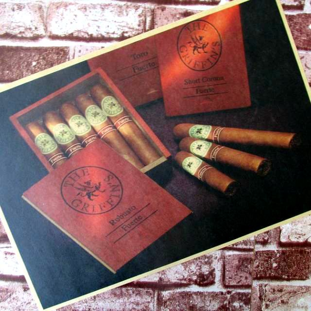 Enjoy the exquisite cigars Vintage Decorative Posters Kraft Home Decor Gift Wall Sticker Funs Poster