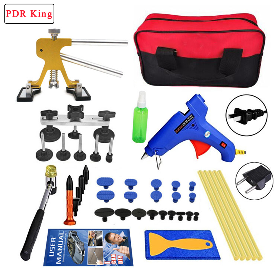Hail dent tools PDR Tools Paintless Dent Removal Car Repair Kit Removing Dents Auto Tools Puller Dent Lifter Pulling Bridge removal glue dent dent tools paintless pdr lifter hail puller car repair