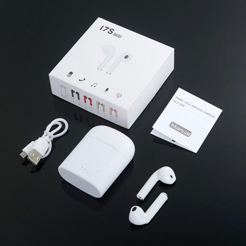 I7S TWS V4.2 Wireless Earphone Bluetooth Earphones Pair In-Ear Music Earbuds Set For Apple IPhone 6 7 Samsung Xiaomi Head Phone