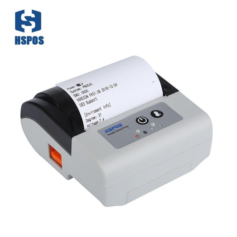 Горячая продажа 80 мм Портативный Мобильный Bluetooth Термальный чековый принтер с автоматическим резаком Поддержка Android IOS для экспресс