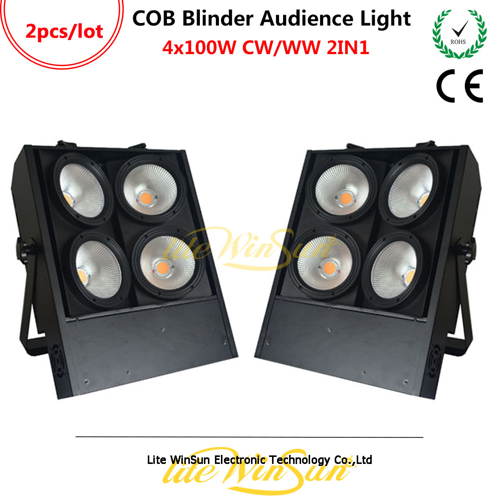 Litewinsune 4x100W CW/WW 2IN1 COB LED Blinder Audience Performace Stage Lighting 3200K 6500K Free-Flicker blinder m45 x treme