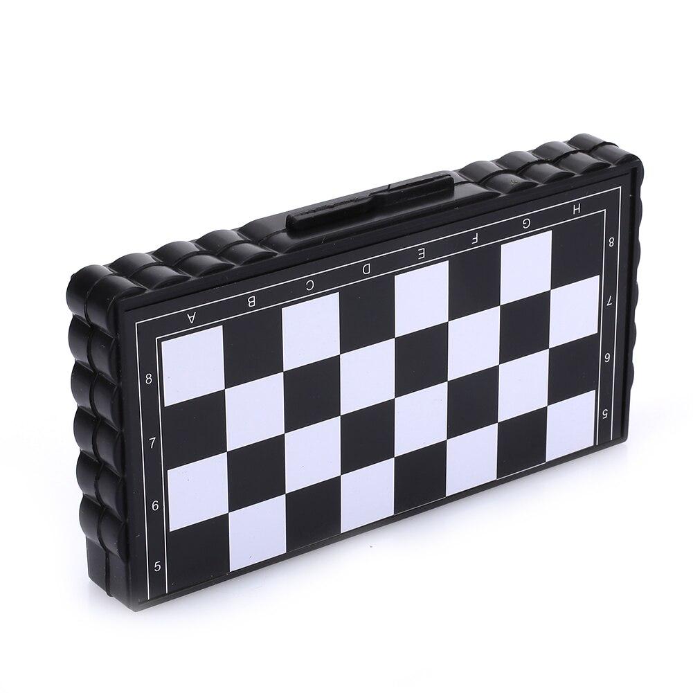 Маленькие шахматные Мини-коробки магнитные шахматы для складываемый набор шахмат Прямая