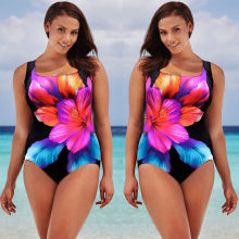 Sexy Women One Piece Swimsuit Swimwear Floral Bathing Monokini Bikini Suit Beachwear Plus Size XL-4XL plus size swimwear one piece swimsuit swimwear female departure beach large size bathing suit monokini beachwear swimsuits